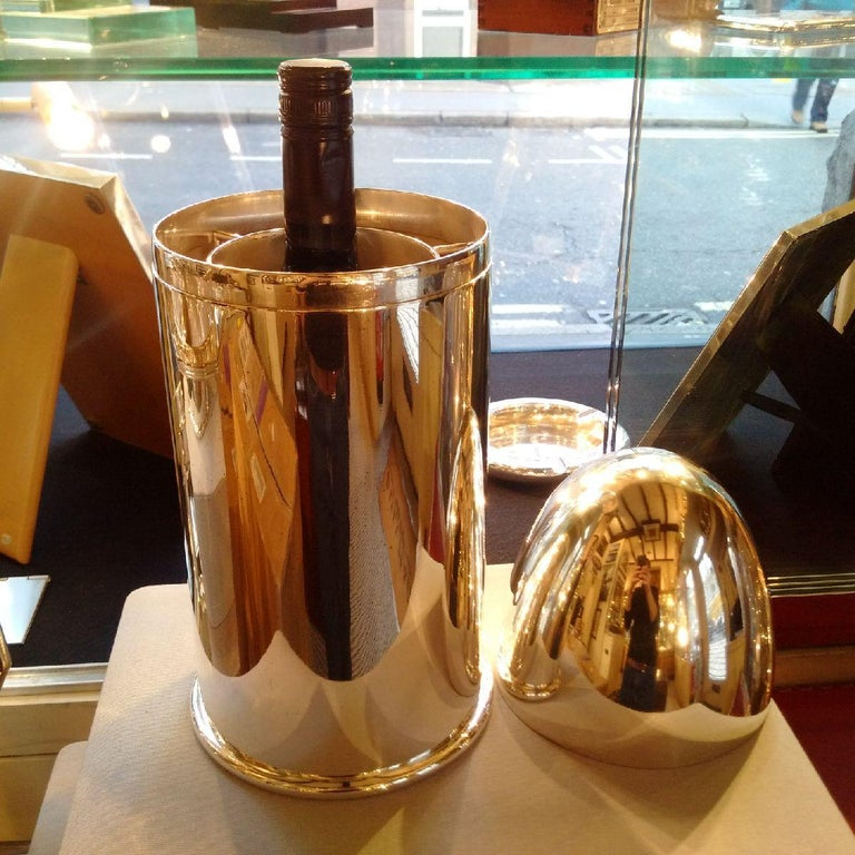 British Giant Silver Plated Novelty Art Deco 'Bullet' Champagne Chiller by Alex Clark For Sale