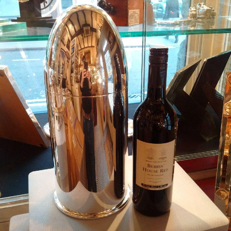 Giant Silver Plated Novelty Art Deco 'Bullet' Champagne Chiller by Alex Clark In Good Condition For Sale In London, GB