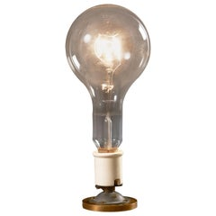Giant Atlas Industrial Lightbulb Mounted on a Brass Base