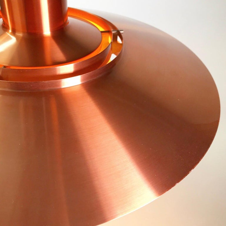 Giant Copper Ceiling Light P700 by Kastholm & Fabricius for Nordisk Solar 1964 In Good Condition For Sale In Haderslev, DK