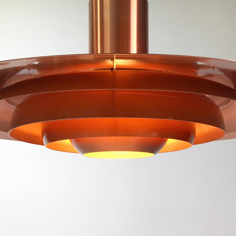 Mid-20th Century Giant Copper Ceiling Light P700 by Kastholm & Fabricius for Nordisk Solar 1964 For Sale