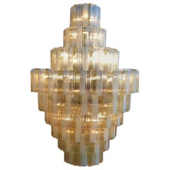 Giant Italian Chandelier, Style of Toni Zuccheri for Venini, Made in Murano