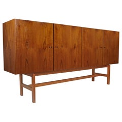 Giant Jydsk Mobelindustri Danish Teak Credenza Sideboard Cabinet, circa 1960s