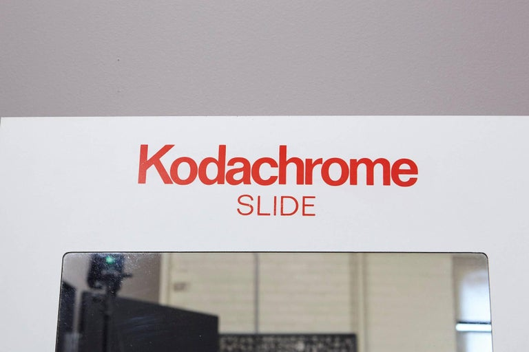 American Giant Kodachrome Slide Bathroom or Medical Cabinet by Think Big! NY, 1985 For Sale