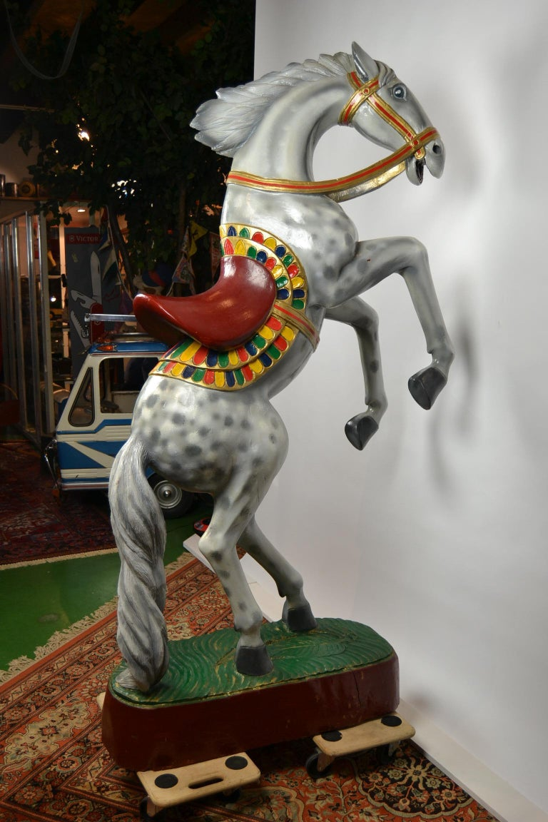 Giant Vintage Wooden Horse Sculpture, USA, 1950s For Sale 3