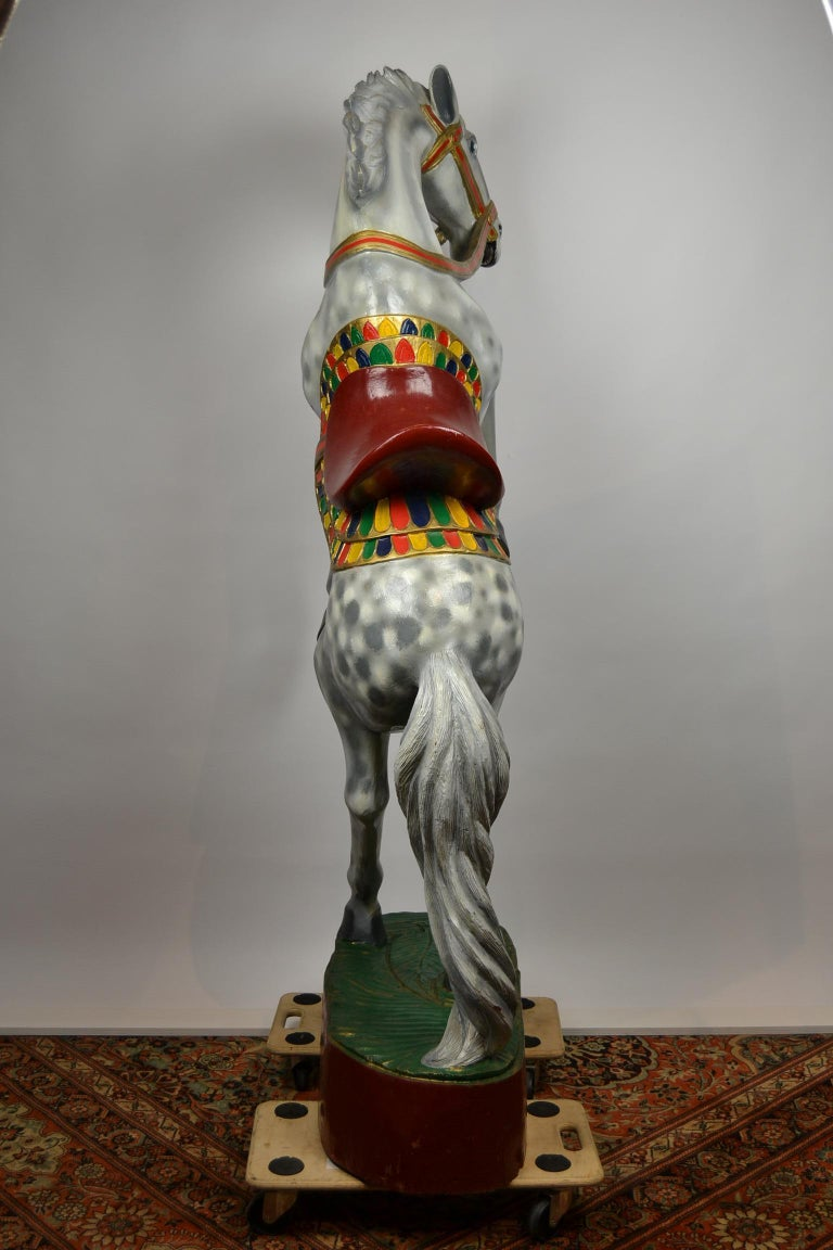 Giant Vintage Wooden Horse Sculpture, USA, 1950s For Sale 4