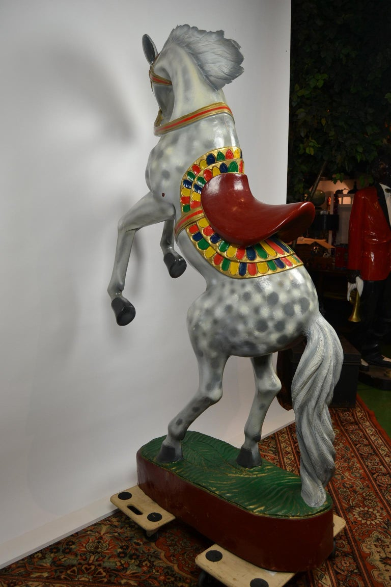 Giant Vintage Wooden Horse Sculpture, USA, 1950s For Sale 6