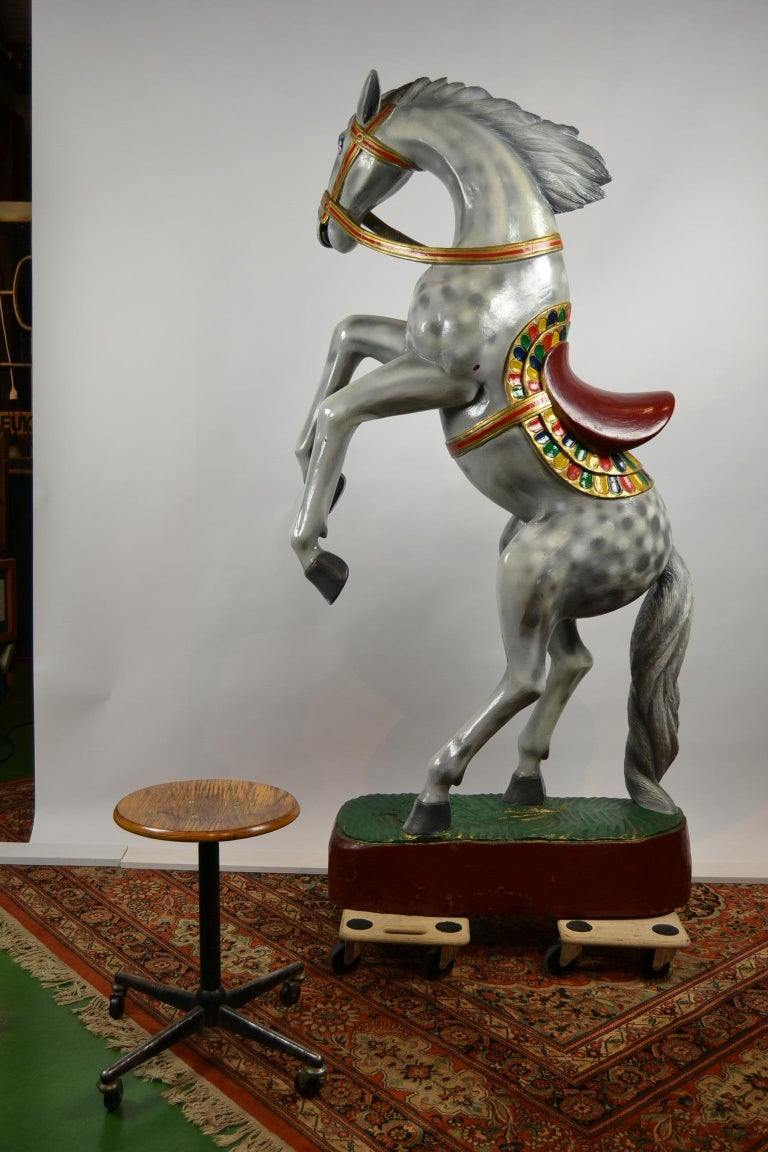 Giant Vintage Wooden Horse Sculpture, USA, 1950s For Sale 8