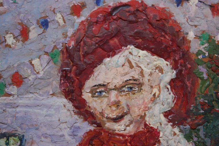 Late 20th Century 'Giant Woman' Encaustic Painting by Rifka Angel, 1971 For Sale