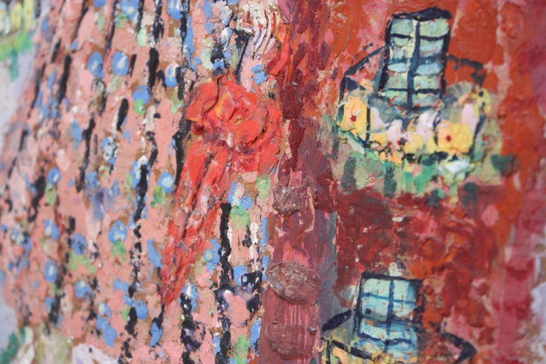'Giant Woman' Encaustic Painting by Rifka Angel, 1971 For Sale 2