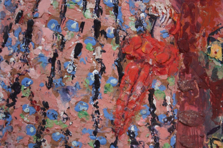 'Giant Woman' Encaustic Painting by Rifka Angel, 1971 For Sale 3