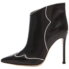 Gianvito Rossi Annie Leather Ankle Boots
