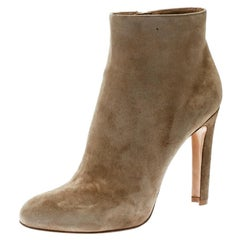 Gianvito Rossi Beige Suede Ankle Boots Size 42