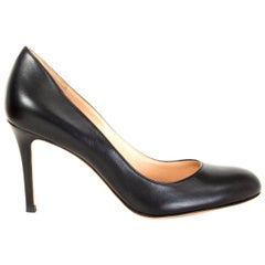 GIANVITO ROSSI black leather FLORENCE Pumps Shoes 36.5