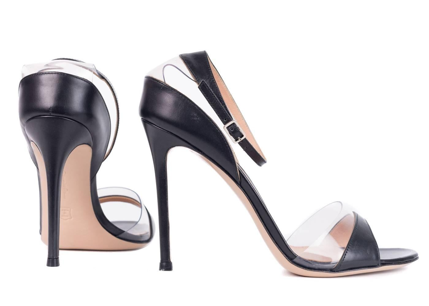 Drop Shipping Gianvito Rossi Woman Pvc-trimmed Patent-leather Sandals Size 36.5 Shop Sale Online Footlocker Finishline Online Discount Looking For QIu7gg5sDU