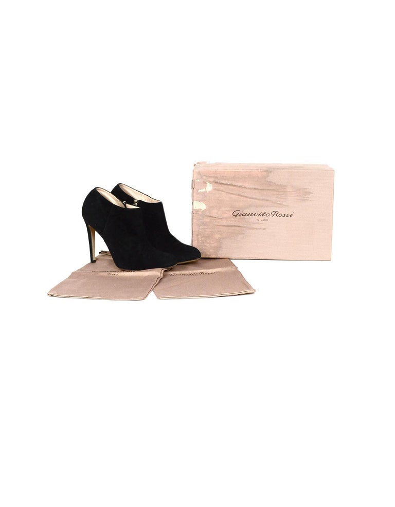 Gianvito Rossi Black Suede Ankle Boot sz 39 For Sale 2