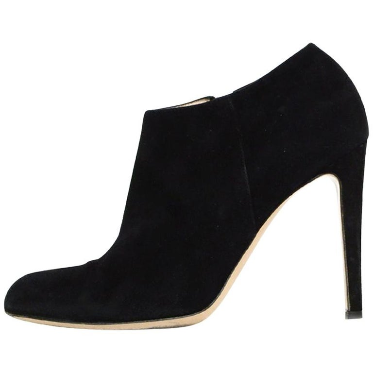 Gianvito Rossi Black Suede Ankle Boot sz 39 For Sale