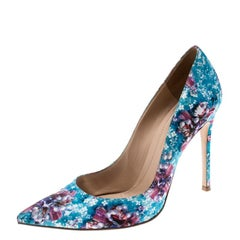 Gianvito Rossi For Mary Katrantzou Multicolor Floral Printed Fabric Lisa Ponker