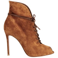 Gianvito Rossi Jane Suede Lace-Up Boots