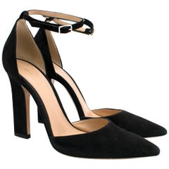 Gianvito Rossi Mila Suede Ankle Strap Pumps- As Worn By Kate Middleton 37.5