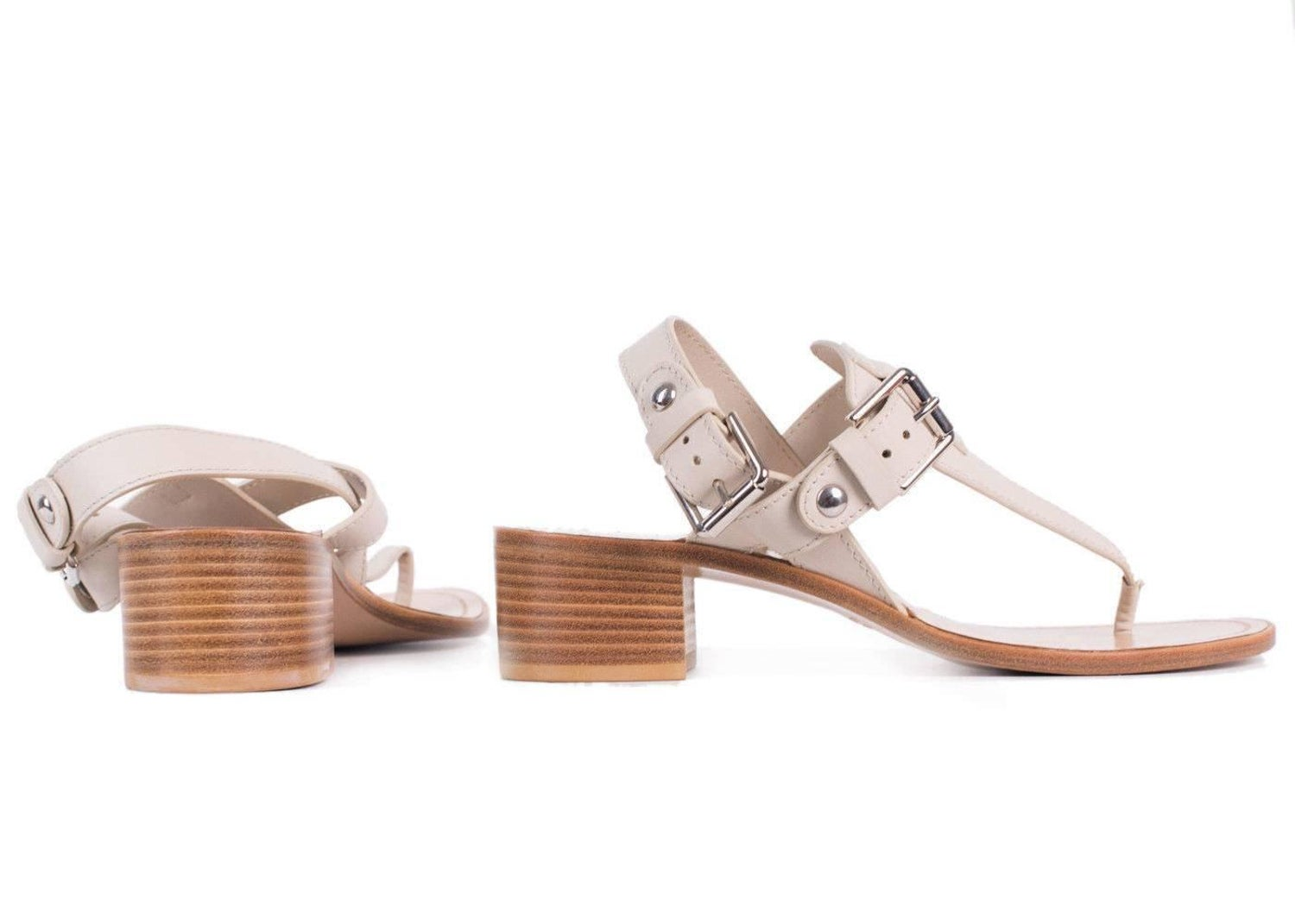 a50093ac925 Gianvito Rossi Nude Leather Buckled Thong Sandal Heels For Sale at 1stdibs