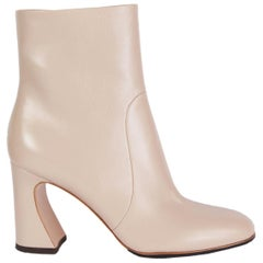 GIANVITO ROSSI nude leather CURVE 85 Ankle Boots Shoes 38.5