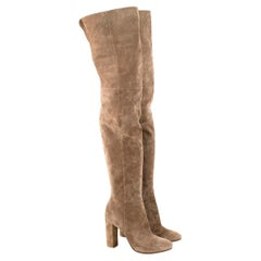 Gianvito Rossi Nude Suede Long Boots - Us size 10.5
