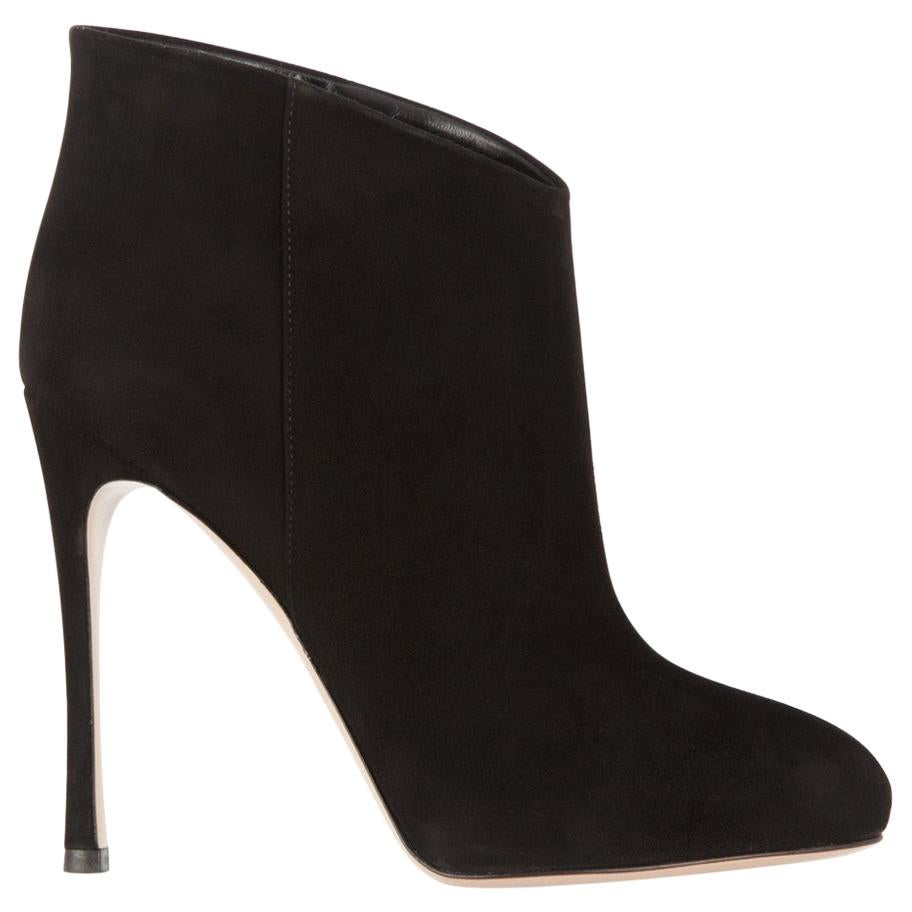 Gianvito Rossi Suede Ankle Boots For