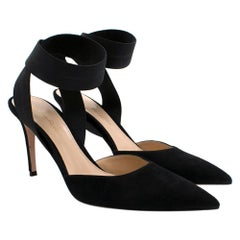 Gianvito Rossi Suede Ankle Wrap Pumps 39.5