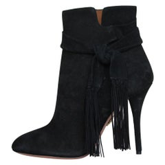 Gianvito Rossi Suede Side-Tie Ankle Boots