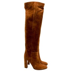 Gianvito Rossi Tan Suede over-the-knee boots - Size 38.5