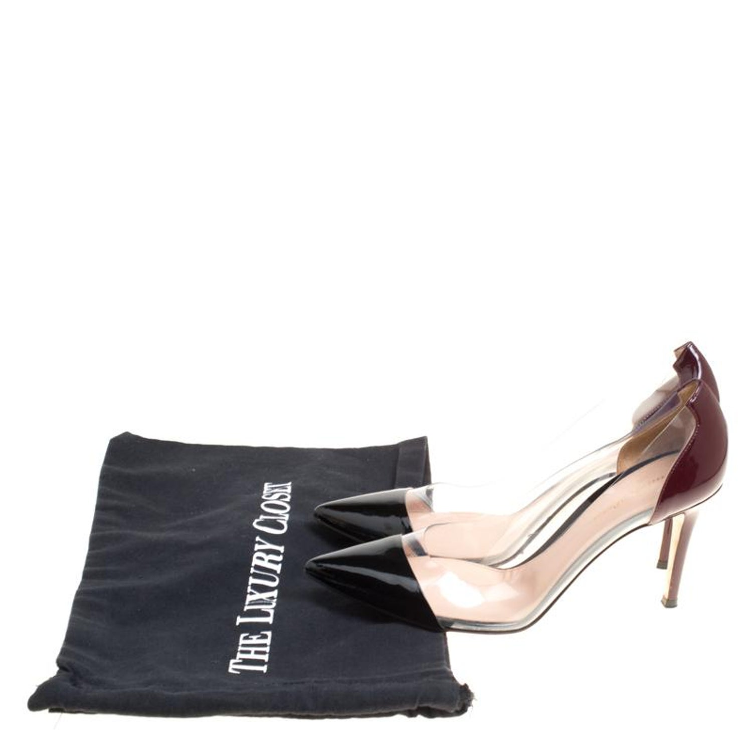 4f8a0b85714 Gianvito Rossi Two Tone Patent Leather and PVC Plexi Pumps Size 38.5 at  1stdibs