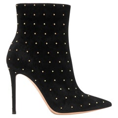 Gianvito Rossi Tyler 100 Studded Suede Ankle Boots