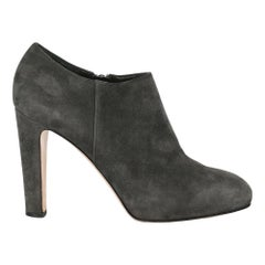 Gianvito Rossi Woman Ankle boots Grey Leather IT 37.5