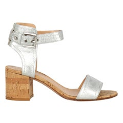 Gianvito Rossi Woman Sandals Silver Leather IT 37.5