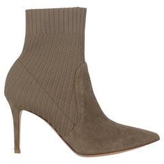 Gianvito Rossi Women  Ankle boots Beige Leather IT 37.5