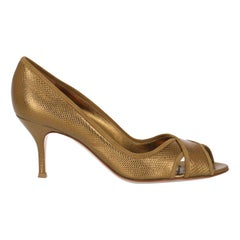 Gianvito Rossi Women  Pumps Gold Leather IT 38