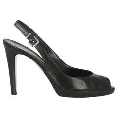 Gianvito Rossi Women  Sandals Black Leather IT 40