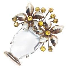 Giardinetto Vintage Flower Brooch 1930s