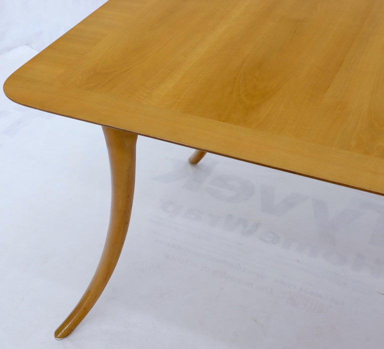 Gibbings for Widdicomb Klismos Style Dining Table with Two Extension Boards For Sale 2