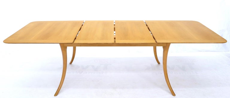 Gibbings for Widdicomb Klismos Style Dining Table with Two Extension Boards For Sale 4