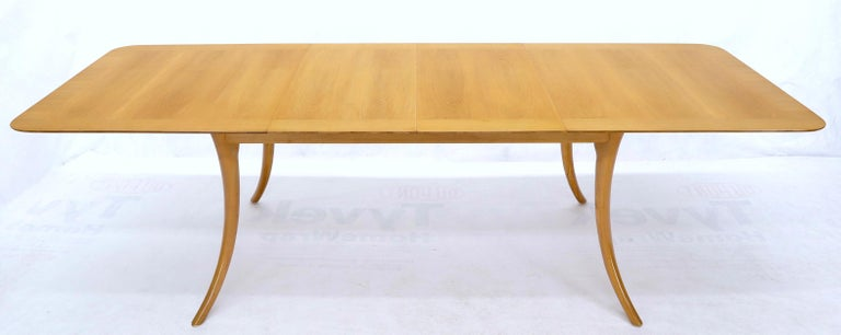 Gibbings for Widdicomb Klismos Style Dining Table with Two Extension Boards For Sale 5
