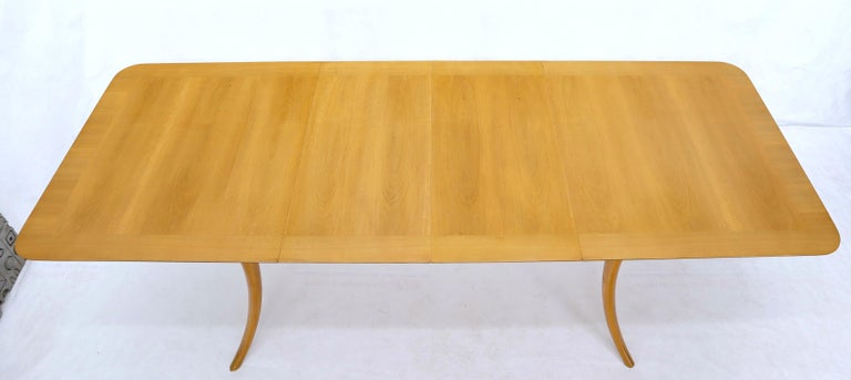 Gibbings for Widdicomb Klismos Style Dining Table with Two Extension Boards For Sale 6