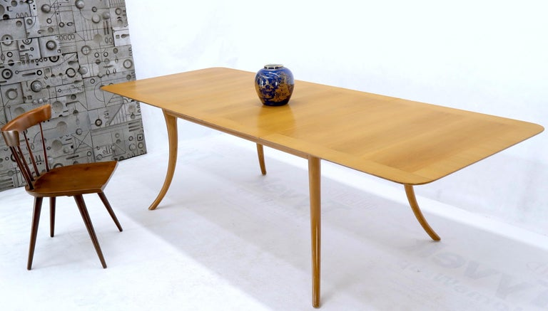 Mid-Century Modern Gibbings for Widdicomb Klismos Style Dining Table with Two Extension Boards For Sale