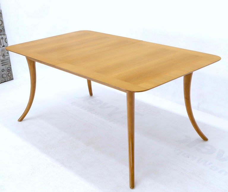 American Gibbings for Widdicomb Klismos Style Dining Table with Two Extension Boards For Sale