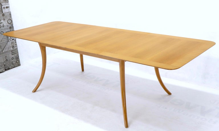 Lacquered Gibbings for Widdicomb Klismos Style Dining Table with Two Extension Boards For Sale
