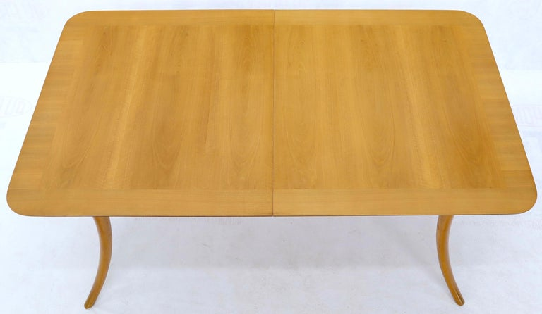20th Century Gibbings for Widdicomb Klismos Style Dining Table with Two Extension Boards For Sale