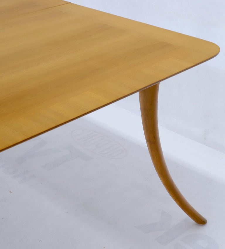 Gibbings for Widdicomb Klismos Style Dining Table with Two Extension Boards For Sale 1