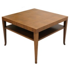 Gibbings for Widdicomb Square Two Tier Walnut End Center Coffee Table
