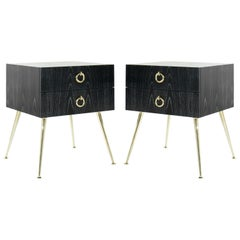 Gibby Collection End Tables in Limed Oak